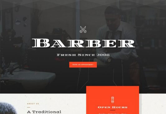 Barber Hair Salon Website